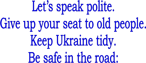 Let's speak polite.